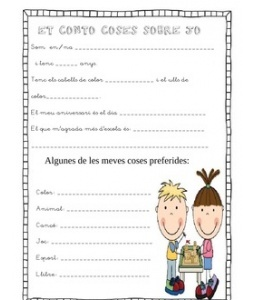 Feineta pels primers dies. Vist a Pinterest, traduit i adaptat. Elaborat per Miss. Nelsons Via: http://www.teacherspayteachers.com/Product/Getting-to-Know-you-sheets