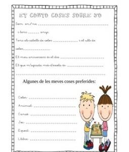 Feineta pels primers dies. Vist a Pinterest, traduit i adaptat. Elaborat per Miss. Nelsons Via: http://www.teacherspayteachers.com/Product/Getting-to-Know-you-sheets
