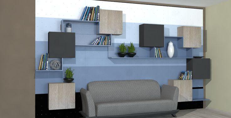 Magnetic modular YaCUBE with presonalized  UV printed wall base.