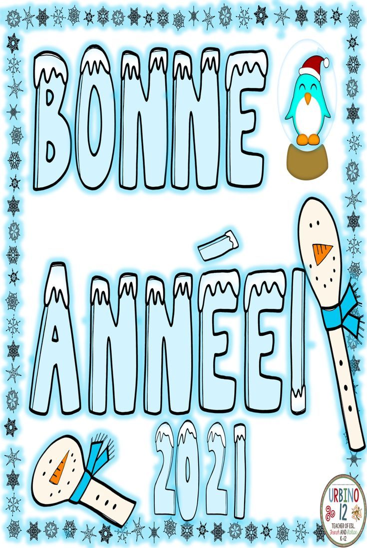 Bonne Année 2021 French Happy New Year in 2020 World