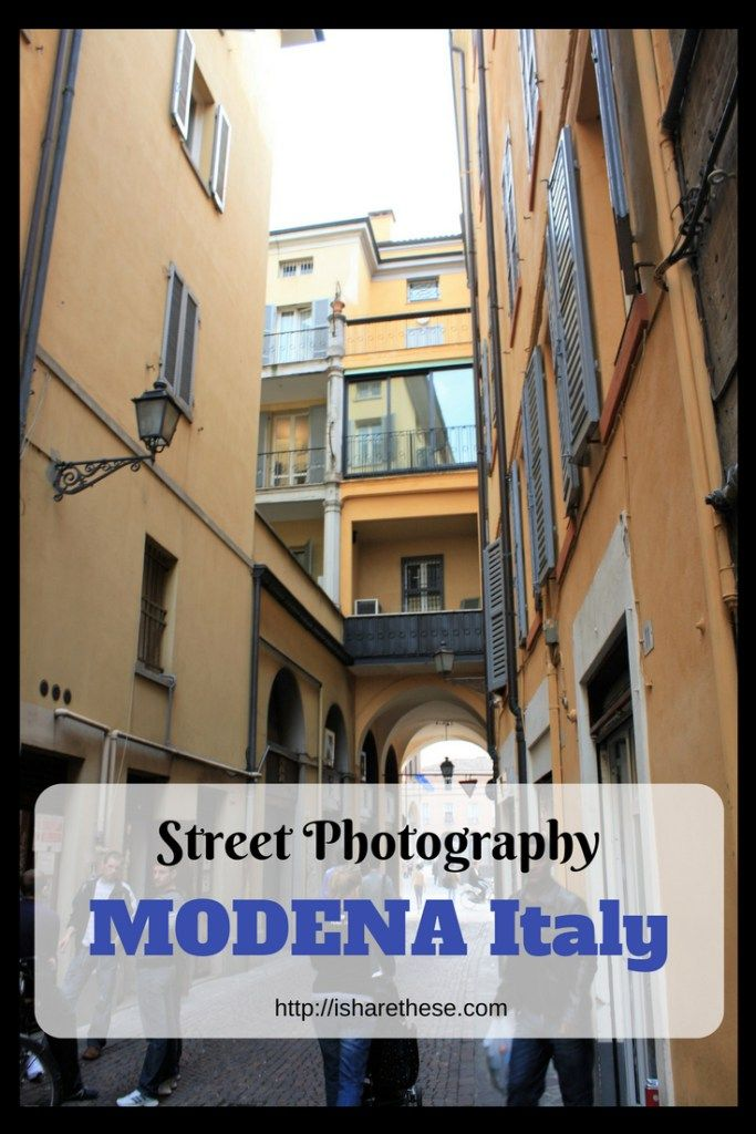 Street Photography of beautiful UNESCO WHS Modena Italy