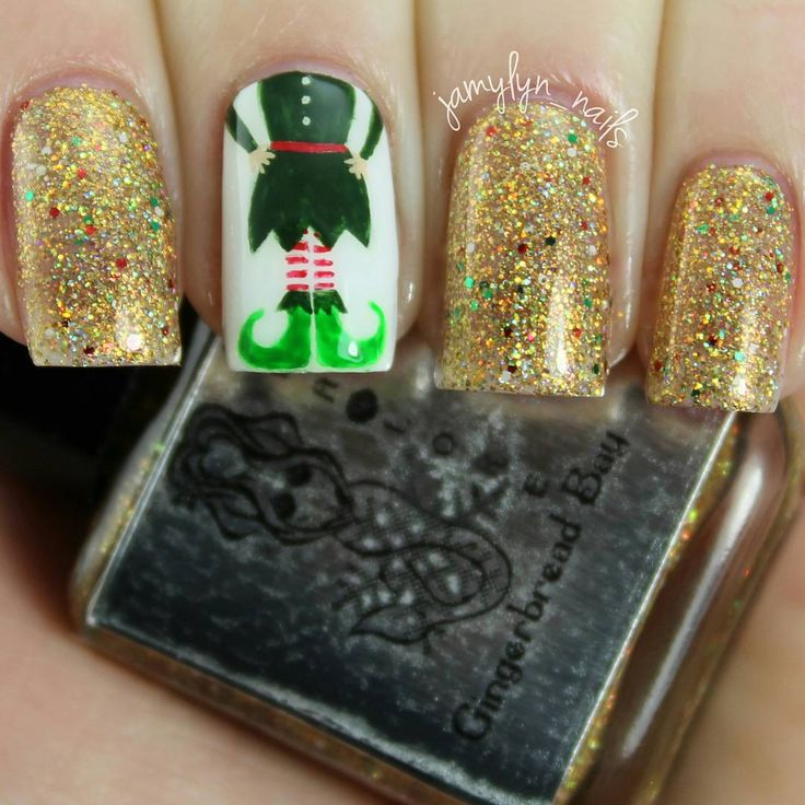 Christmas Nails Elf: Elf Inspired Christmas Nails