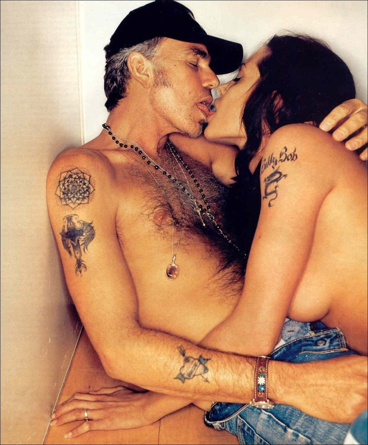 "Angelina Jolie and Billy Bob Thornton. I liked her then. He said after the divorce ""you can be screwing the most beautiful woman in the world and it can still feel like you're screwing a couch. looks aren't important."" HHHHHHHHHAAAAA Skank."
