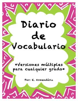 This vocabulary journal is great for any content area. Students write down the word, definition and draw a picture to help them visualize and remember each word.