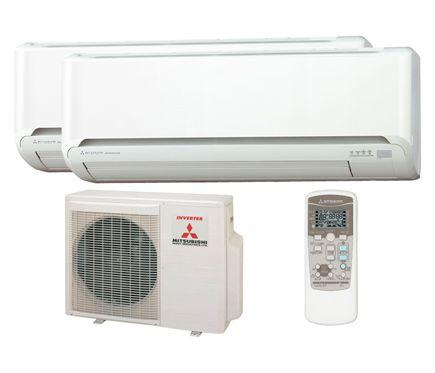 Mitsubishi ZJ07 1800 - 3050 frigorías AIRE ACONDICIONADO 2X1 MITSUBISHI 40 - Leroy Merlin