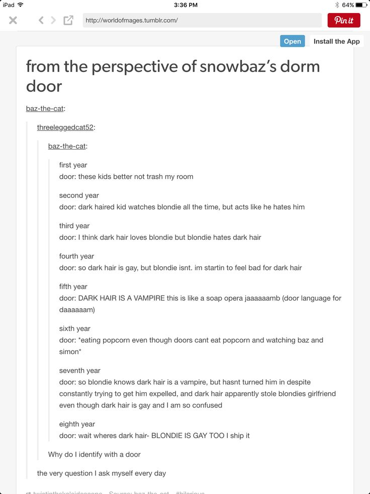 SnowBaz from dorm room doors perspective. (If that sentence made any sense)