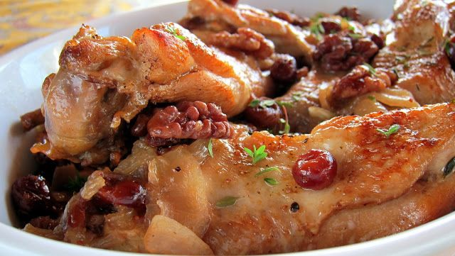 Cranberry Braised Turkey Wings - Pressure Cooker Recipe Poultry wings don't get much respect - they are small, bony and often chucked into stock.  Turkey wings, because of their size, are the exception. The meat