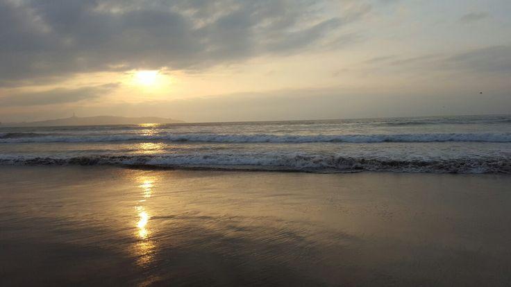 atardecer en playa La Serena
