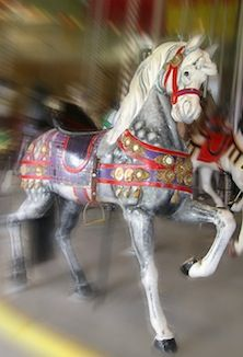 1903 Carousel in Port Dalhousie costs on 5¢. An exhilarating place for the young or old to visit in Niagara!