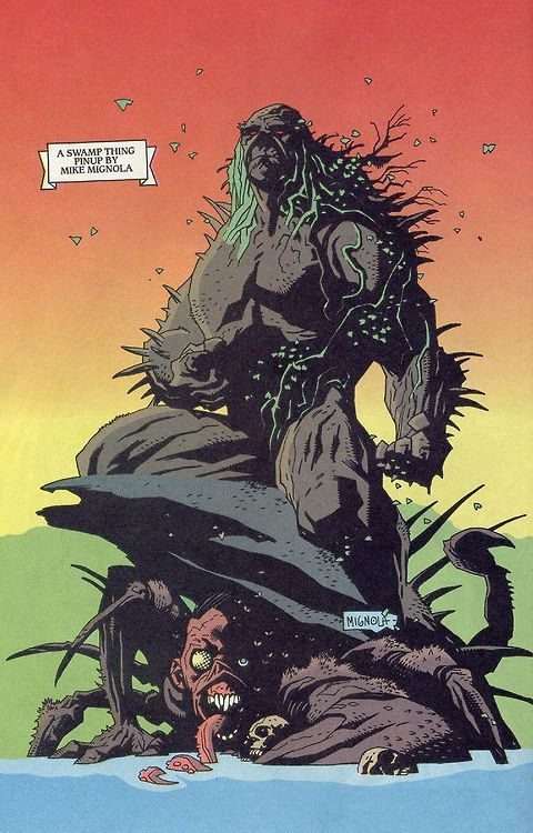 Swamp Thing by Mike Mignola