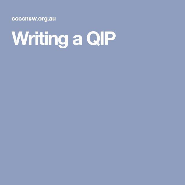 Writing a QIP