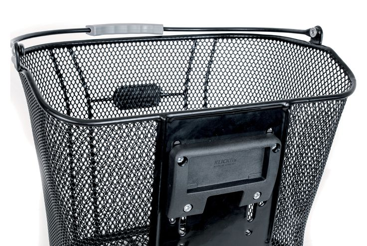 FastRider Fietsmand Borre zwart  Description: De Fastrider fietsmand Borre zwart is een metalen fietsmand met een inhoud 165 liter. De mand is afneembaar en moet worden gebruikt met het Klickfix systeem (exclusief). De bevestigingsplaten voor het Klickfix systeem worden wel meegeleverd. De maximale draagkracht is 5 kilogram. De fietsmand heeft een afmeting van 26x25x33 centimeter gewicht 1600 gram.  Price: 27.99  Meer informatie
