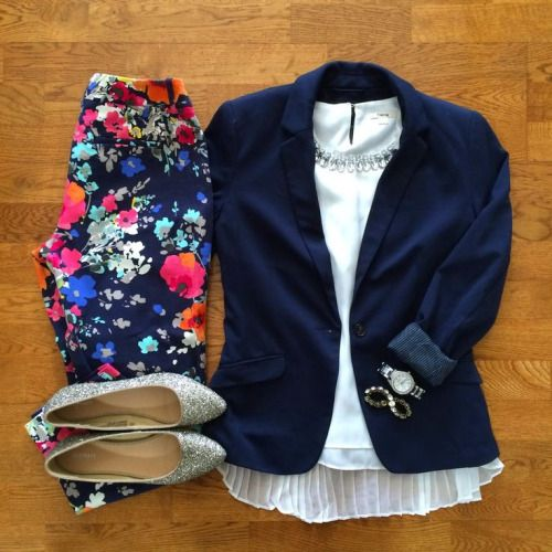 Other than the shoes, I like this. Already have the navy blazer