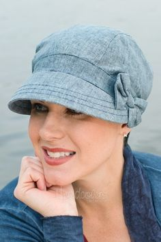 hats for cancer patients | Lined in 100% cotton fabric, this easy to wear newsboy hat adorns a ...