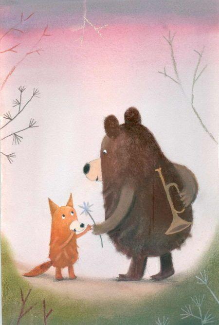 Картинки медвежонок и лисенок