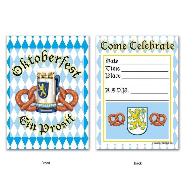 Oktoberfest Invitations 4'' x 5.5'' (96ct)