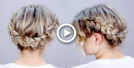 Hairstyle Of The Day: SUPER CUTE Braid Hairstyle Updo   Milabu