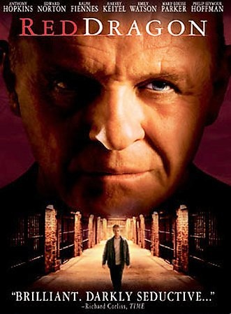 "Red Dragon [PN1995.9.S294 R43 2003] A retired FBI agent with psychological gifts is assigned to help track down ""The Tooth Fairy"", a mysterious serial killer; aiding him is imprisoned criminal genius Hannibal ""The Cannibal"" Lecter. Director:Brett Ratner Writers:Thomas Harris (novel), Ted Tally (screenplay)Stars:Anthony Hopkins, Edward Norton, Ralph Fiennes"