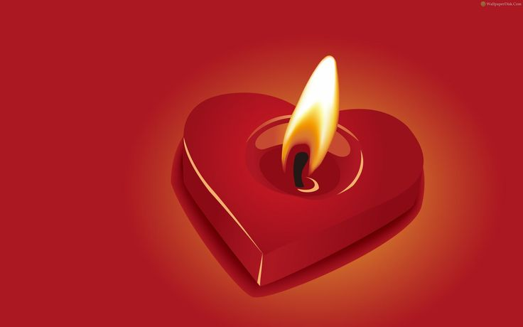 Best Love Candle Desktop Wallpaper - Romance Wallpaper Lovers