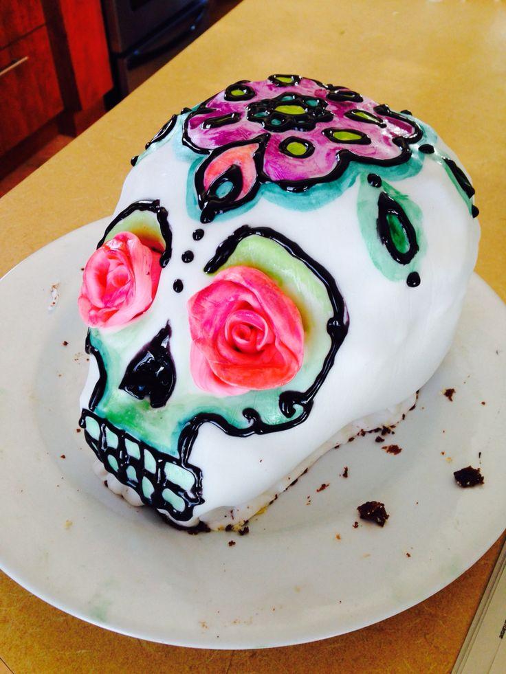 dia de los muertos cake I just made :)
