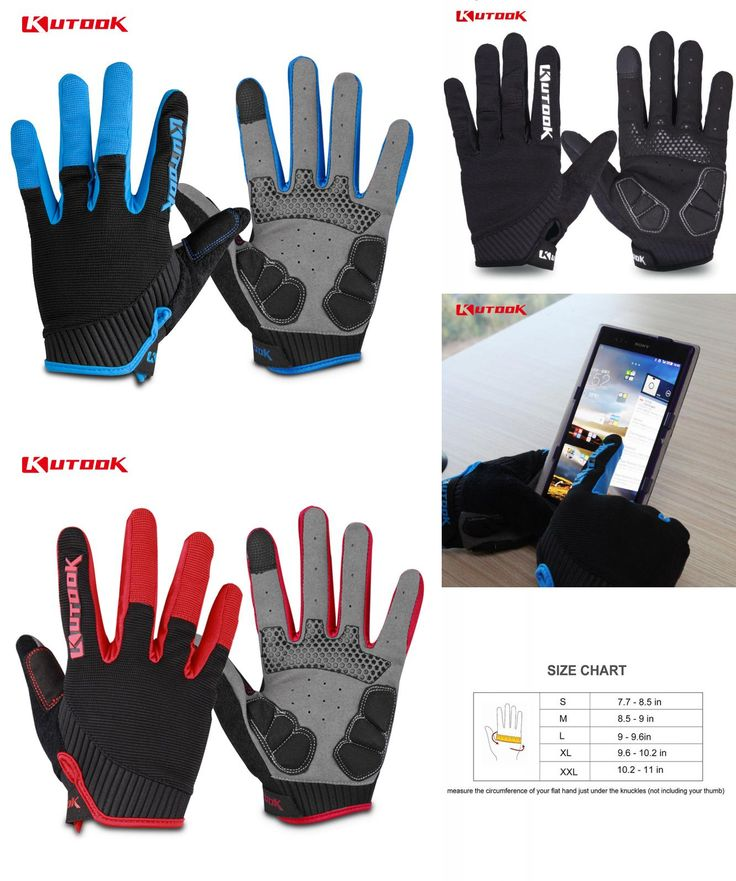 [Visit to Buy] KUTOOK Men's Cycling Gloves Women Full Finger Bike Bicycle MTB Gloves Touch Screen Gel Padded Lycra Mittens  KF401 #Advertisement