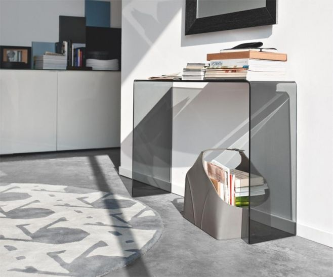 Calligaris Enter Modern Glass Console Table in 2 Colour Choices #console