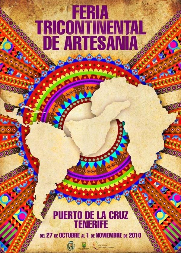Cartel anunciador de la 1ª Feria de Artesanía 2010