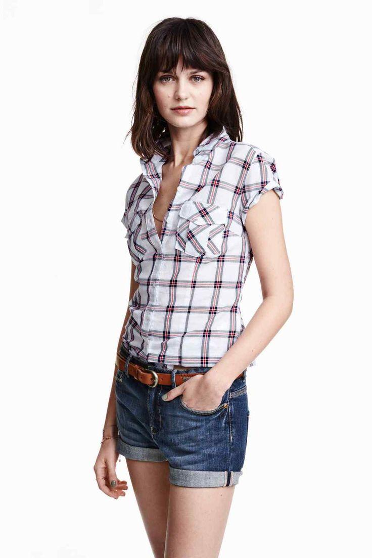 Camisa mangas curtas algodão