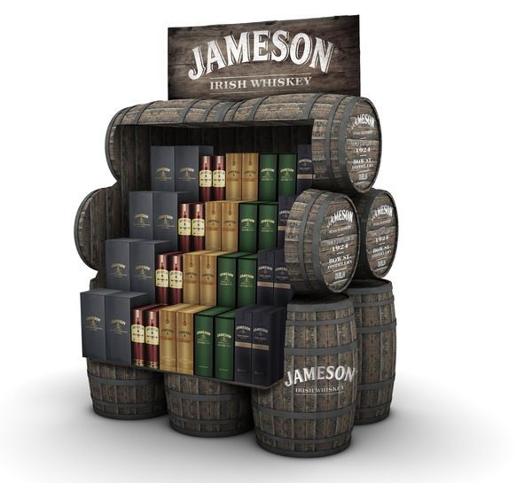 Jameson Retail Display - Created for alcohol conglomerate Pernod Ricard by graphic designer Robert Sinderman of TMW, this wonderfully attention-grabbing Jameson retail disp...