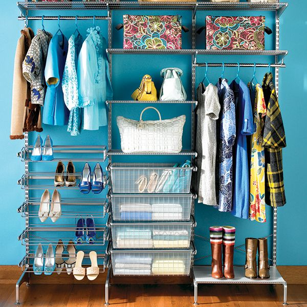 Platinum Elfa Freestanding Reach In Closet