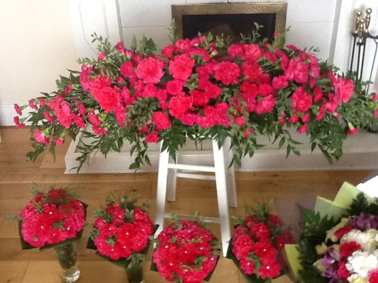 All carnation wedding