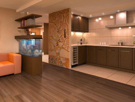 Кухня - гостиная. Часть 2. Дизайн интерьера кухни - гостиной