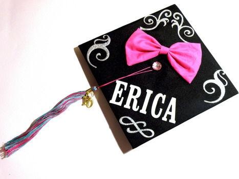 Graduation Cap Monograms Bows Grad Cap Graduation Graduation