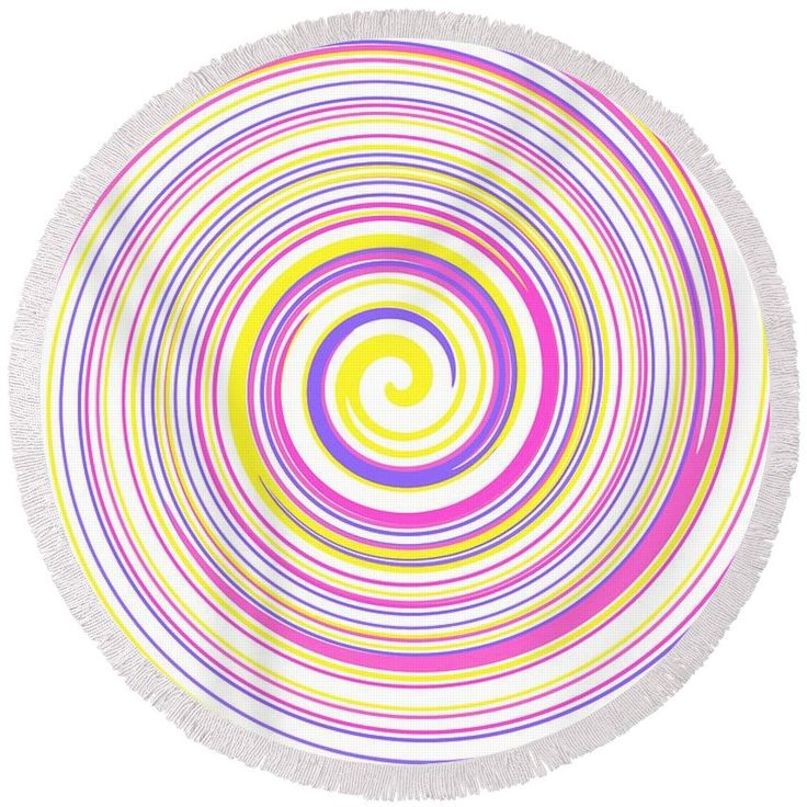 Round abstract beach towel.