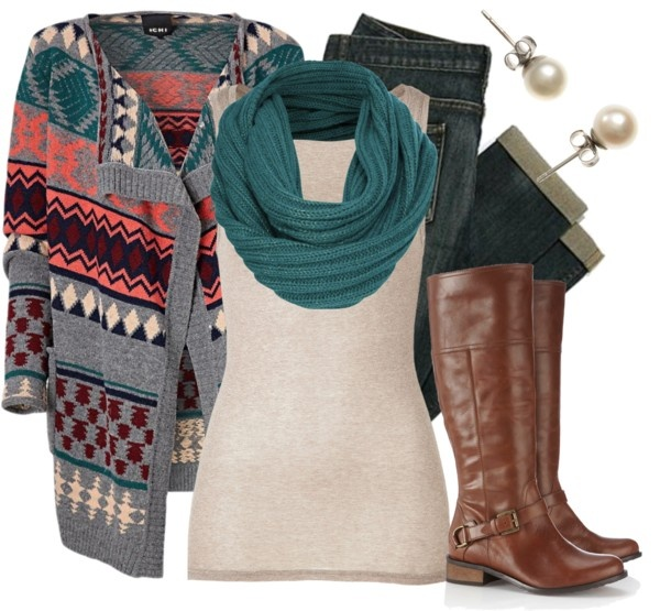"""Cozy & Colorful"" by qtpiekelso on Polyvore. Love the sweater!!"