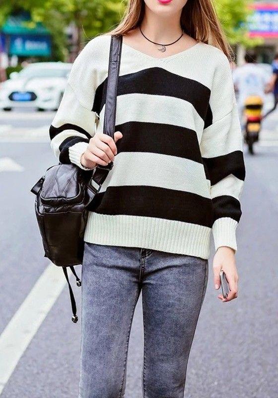 352 best Sweaters images on Pinterest | V necks, Black stripes and ...