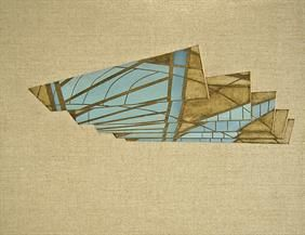 Utopia sky 35x45cm, oil on canvas, 2014 #art #architecture #Daniel #Mullen #design