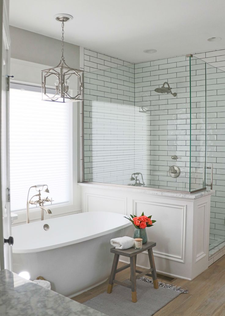 Gorgeous bathroom remodel - love seeing all the before and after pics!