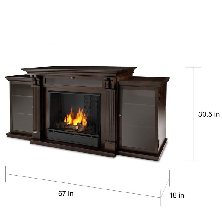 Real Flame Calie Dark Walnut 67 in. L x 18 in. D x 30.5 in. H Entertainment Center Gel Fireplace | Overstock.com Shopping - The Best Deals on Indoor Fireplaces