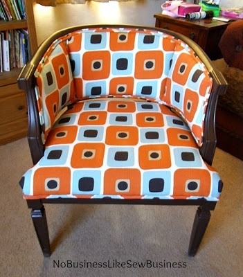 No Business Like Sew Business: My Funky Living Room Chair