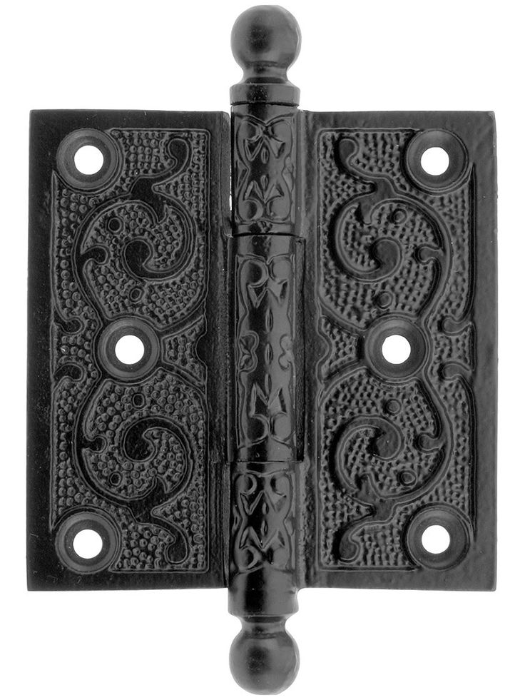 Victorian Door Hinges 3 1 2 Quot Black Iron Ball Tip Hinge