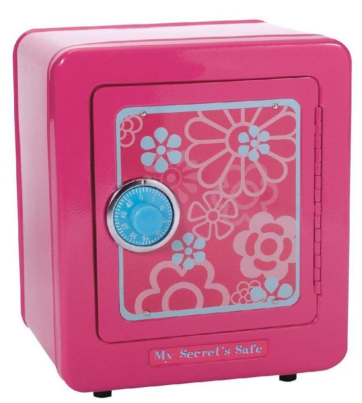 Kids Secret Safe With Alarm Girls Safekeeping Savings Money Banking Steel Gift  #KidsSecretSafe