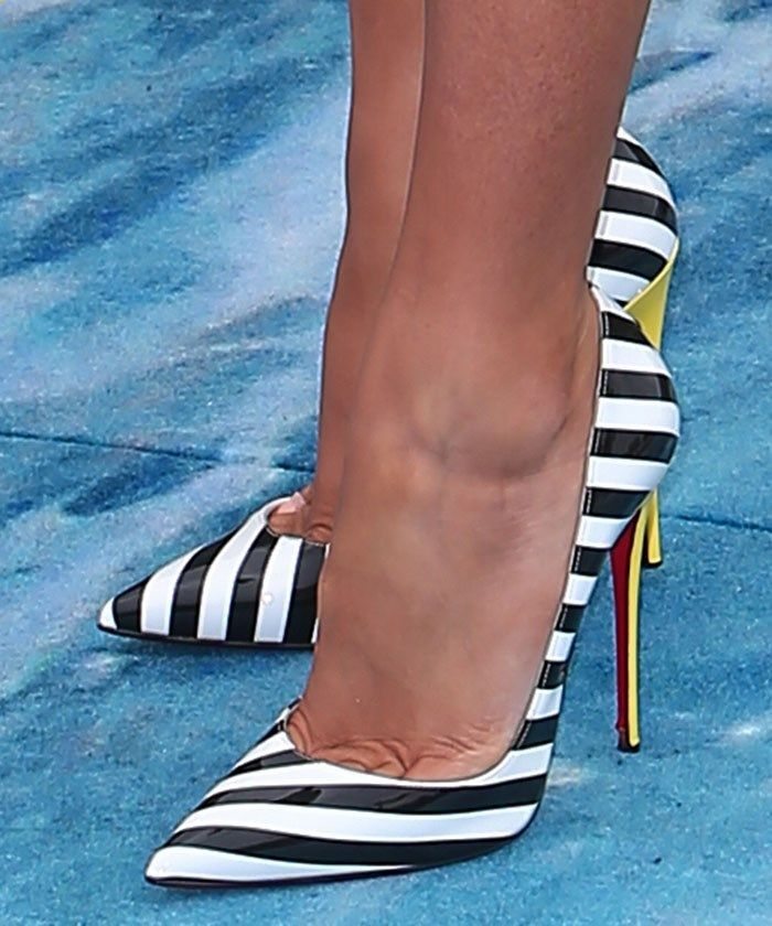 Blake Lively in Christian Louboutin pumps