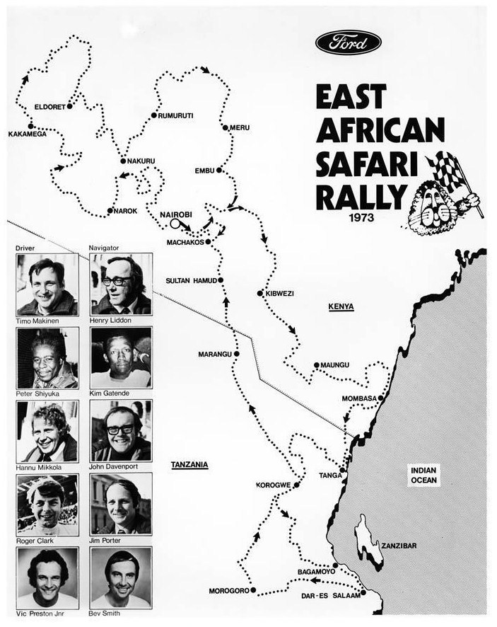 East African Safari Rally 1973