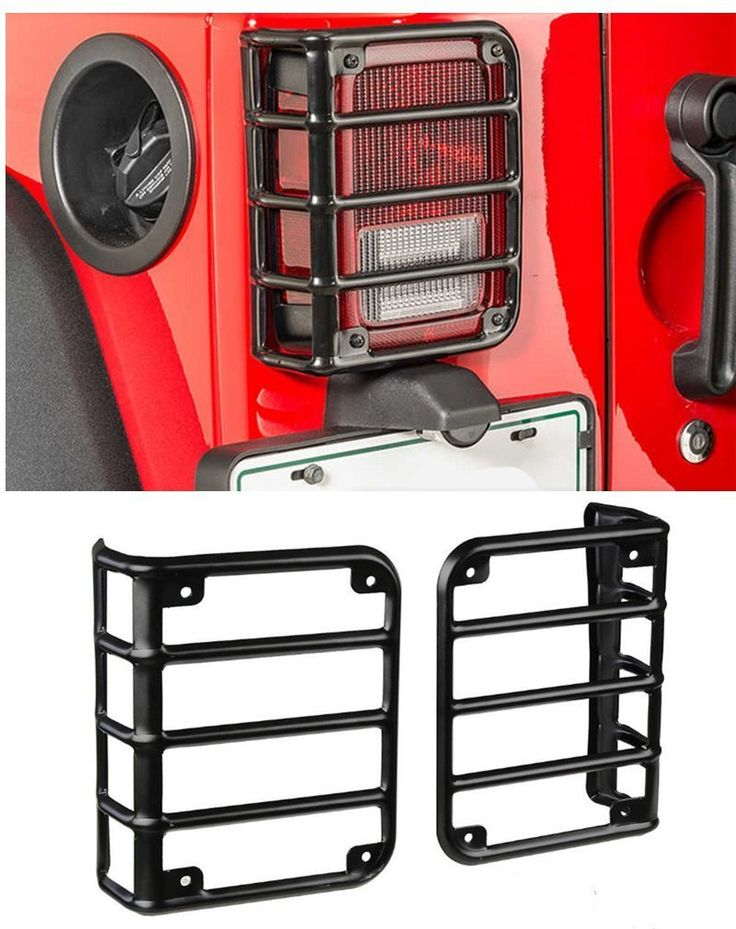 Amazon.com: E-cowlboy Tail Lamp Tail Light Guard Cover Trim Protector 2pcs for Jeep Wrangler JK & Unlimited 2/4 Door ( Sports, Sahara, Freedom & Rubicon ) 2007-2017: Automotive