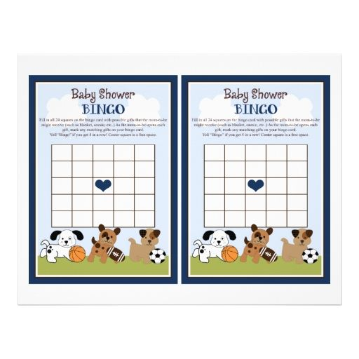 Bow Wow Puppy Pals Quot Baby Shower Bingo Quot Sheet Baby Shower