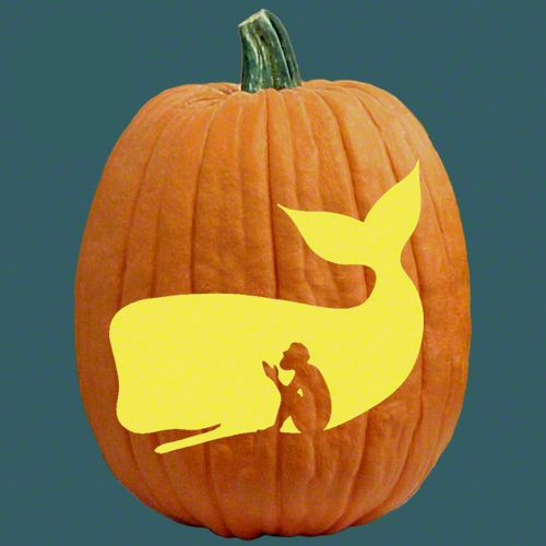 Jonah and the whale have faith pumpkin carving patterns