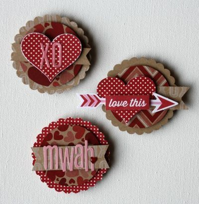 scrapbooking idea for embellishment ♥                                                                                                                                                     More