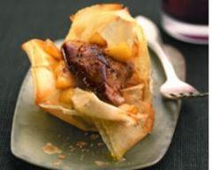 Croustillant de foie gras aux pommes fondantes - Une recette CuisineAZ