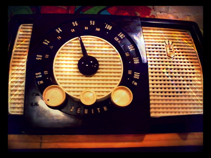 One of the cool looking old radios at our local antique shop.